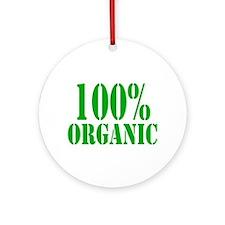 100% Organic Ornament (Round)