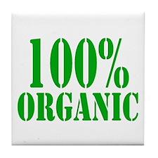 100% Organic Tile Coaster
