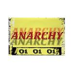 Anarchy OI OI OI Punk Rock Rectangle Magnet (10 pa