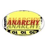 Anarchy OI OI OI Punk Rock Oval Sticker
