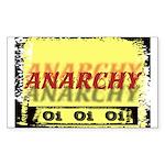 Anarchy OI OI OI Punk Rock Rectangle Sticker