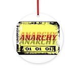 Anarchy OI OI OI Punk Rock Ornament (Round)