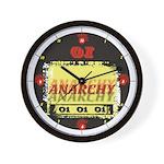 Anarchy OI OI OI Punk Rock Wall Clock