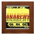 Anarchy OI OI OI Punk Rock Framed Tile