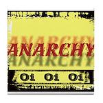 Anarchy OI OI OI Punk Rock Tile Coaster
