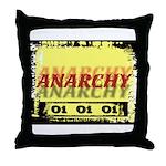 Anarchy OI OI OI Punk Rock Throw Pillow