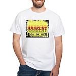 Anarchy OI OI OI Punk Rock White T-Shirt