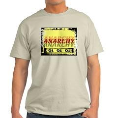 Anarchy OI OI OI Punk Rock Ash Grey T-Shirt