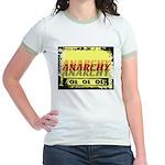 Anarchy OI OI OI Punk Rock Jr. Ringer T-Shirt
