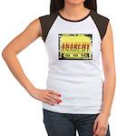 Anarchy OI OI OI Punk Rock Women's Cap Sleeve T-Sh