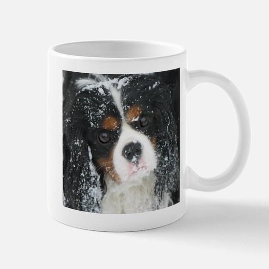 Snow Tricolor Cavalier Spaniel Mugs