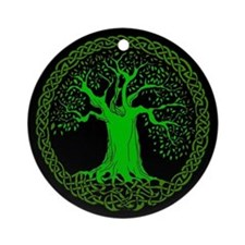 Cute Green Ornament (Round)