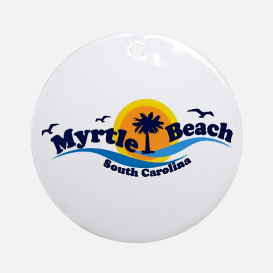 Myrtle Beach SC - Waves Design Ornament (Round)