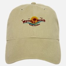 Myrtle Beach SC - Waves Design Baseball Baseball Cap