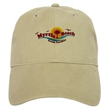 Myrtle Beach SC - Waves Design Baseball Cap