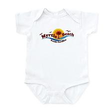 Myrtle Beach SC - Waves Design Infant Bodysuit