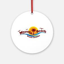 Myrtle Beach SC - Waves Design Ornament (Round)
