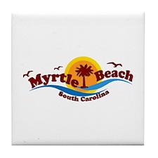Myrtle Beach SC - Waves Design Tile Coaster
