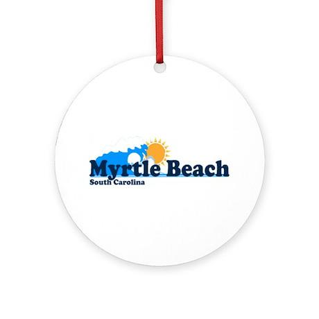 Myrtle Beach SC - Beach Design Ornament (Round)