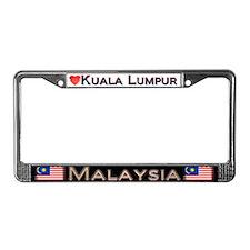 Kuala Lumpur, MALAYSIA - License Plate Frame