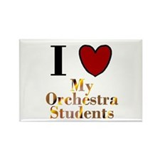 I Love My Orchestra Students Rectangle Magnet