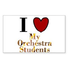 I Love My Orchestra Students Rectangle Decal