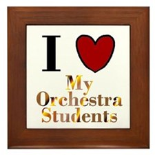 I Love My Orchestra Students Framed Tile