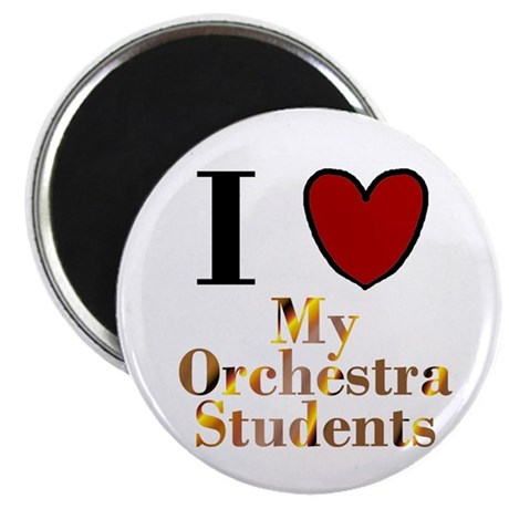 "I Love My Orchestra Students 2.25"" Magnet (10 pack"