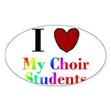 I Love My Choir Students Oval Decal