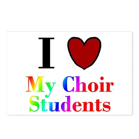 I Love My Choir Students Postcards (Package of 8)
