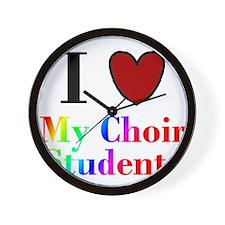 I Love My Choir Students Wall Clock