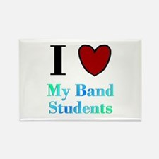 I Love My Band Students Rectangle Magnet