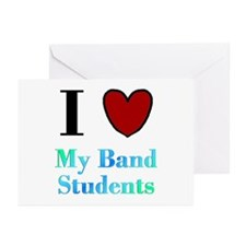 I Love My Band Students Greeting Cards (Pk of 10)