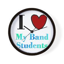 I Love My Band Students Wall Clock