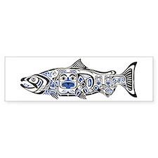 Haida Salmon - Bumper Bumper Sticker