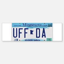 """Minnesota """"Uffda"""" Bumper Bumper Sticker"""