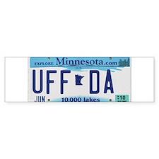 """Minnesota """"Uffda"""" Bumper Sticker"""