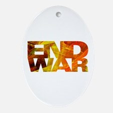 End War Oval Ornament