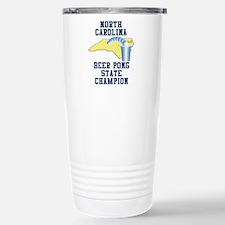 North Carolina Beer Pong Stat Thermos Mug