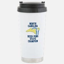 North Carolina Beer Pong Stat Travel Mug