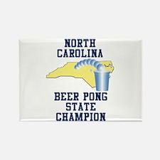 North Carolina Beer Pong Stat Rectangle Magnet