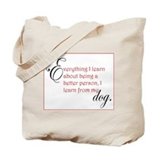Dog Lessons Tote Bag