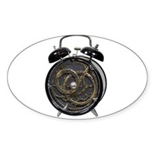 Astrolabe alarm clock Oval Decal