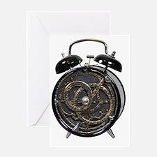 Astrolabe alarm clock Greeting Card