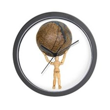 Atlas holds the globe Wall Clock