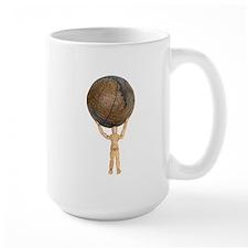 Atlas holds the globe Mug