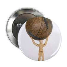 "Atlas holds the globe 2.25"" Button"