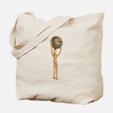 Atlas holds the world Tote Bag