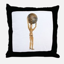 Atlas holds the world Throw Pillow