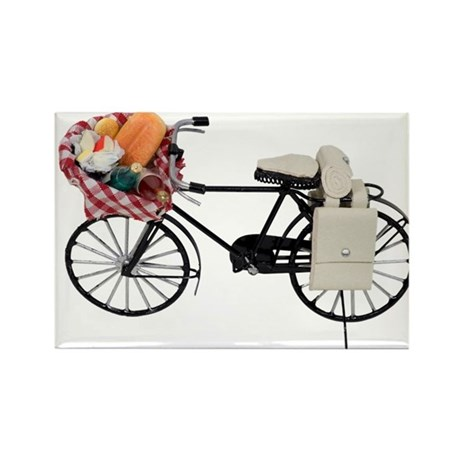 Bicycle picnic Rectangle Magnet